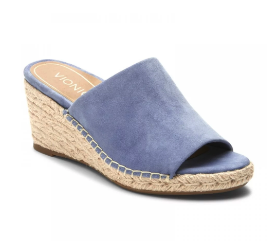 373c626f426 A slide is an effortless way to wear wedges. Our Kadyn Wedge Slide is made  with a velvety soft suede band for the ultimate beach look.